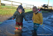 Puddle splashing fun