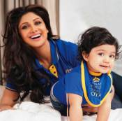 Shilpa Shetty with her son
