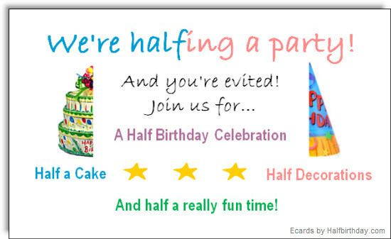 do you celebrate your child's 'half birthdays'?  mutterntochter, Birthday card