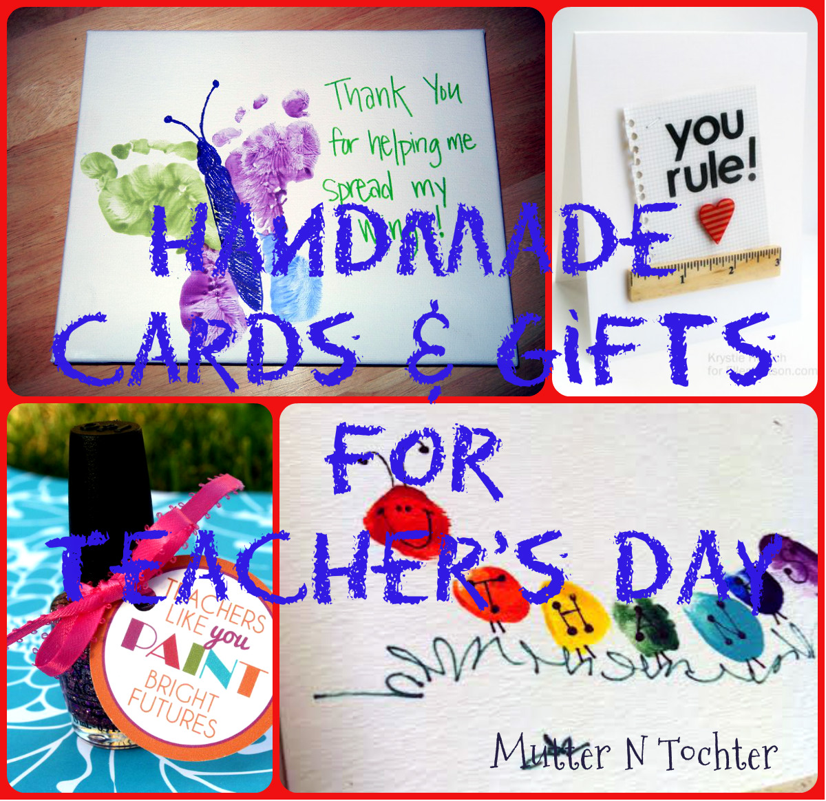 7 Last Minute Handmade Ts And Cards For Teacher's Day