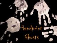 Halloween craft handprint ghosts