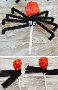 Halloween party favor lollypop spider