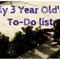 Child development: My 3 year old already has a 'to-do' list