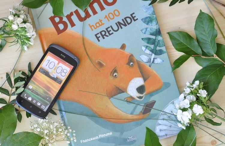 Bruno hat 100 Freunde - Medienkompetenz & Freundschaft für Kinder ab 5 Jahren #bilderbuch #kinderbuch #medienkompetenz #medien #handy #kinder