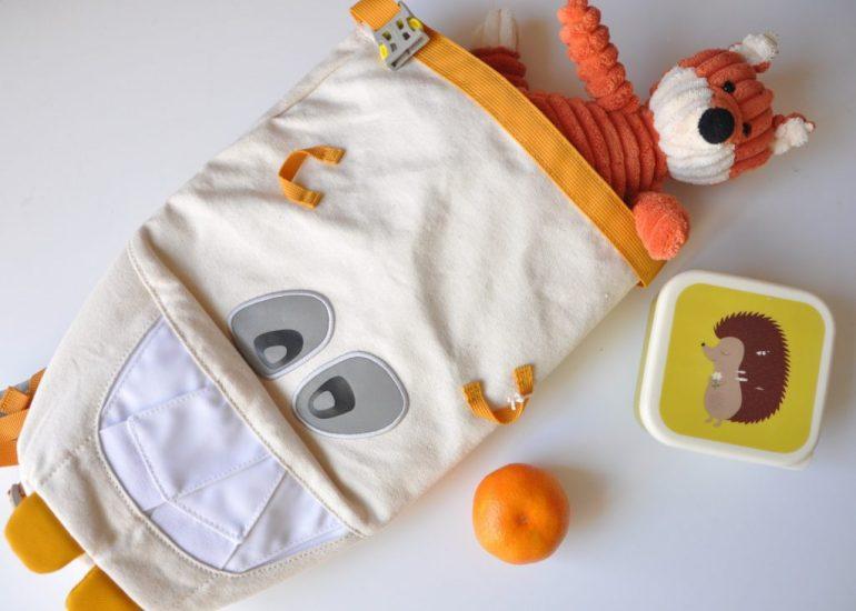 Mighty Monster, Monster Rucksack, kleiner Monsterrucksack mit Bio-Baumwolle, Affenzahn