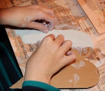 Holzscheit-Engel: Making-of