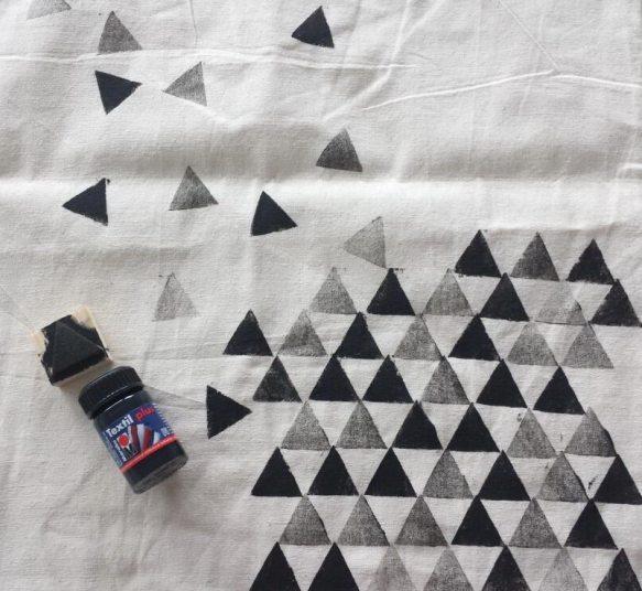 Moosgummi-Stempel: Dreieck