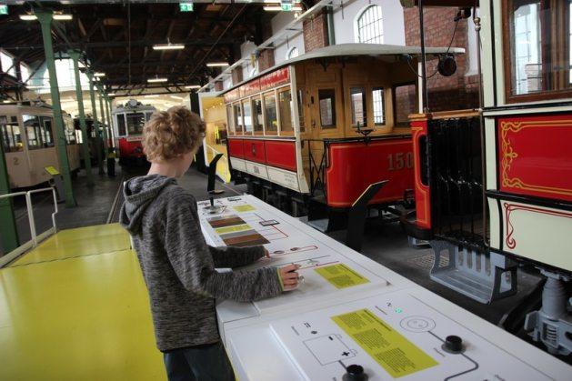 Besuch in der Remise, Verkehrsmuseum der Wiener Linien