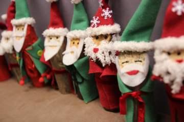 Basteln mit Kindern, Basteln für Weihnchten: Nikolaus aus Holz