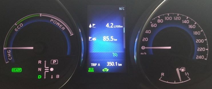 Toyota Auris Hybrid Verbrauch