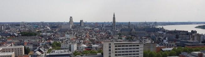 Antwerpen mit Kind: Panorama vom Museum aan de Stroom