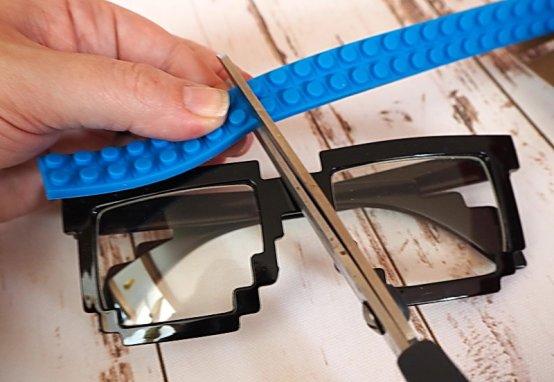 DIY Lego Faschingsbrille: Brille für den Karneval selbstgemacht