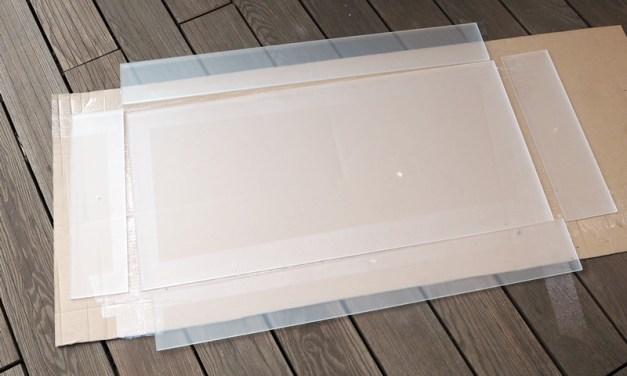 Palettentisch - Making of: Acrylglasladen kleben