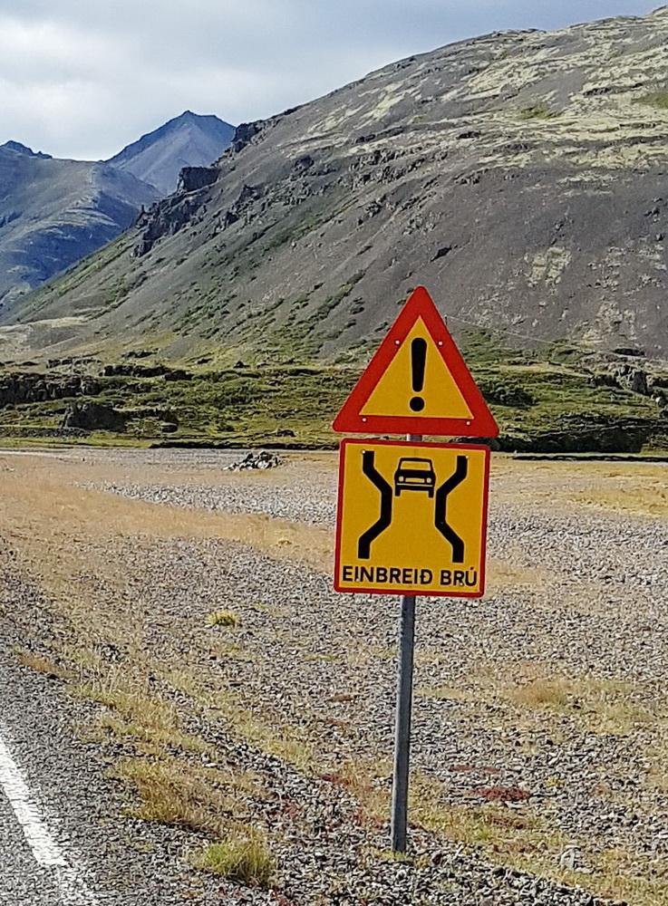 Autofahren in Island: Einbreid Brú
