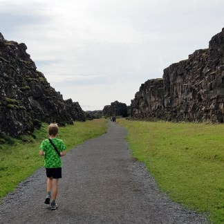 Island mit Kind: Nationalpark Thingvellir