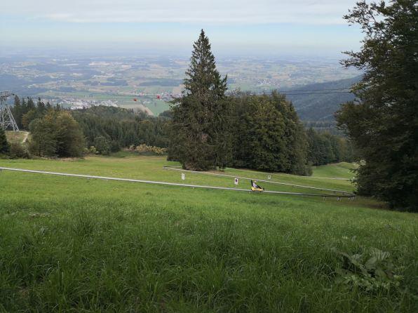 Rasante Fahrt mit dem Grünberg Flitzer