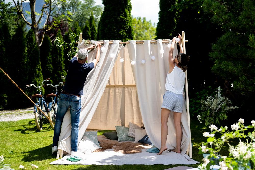 Chill-out-Zelt im Garten