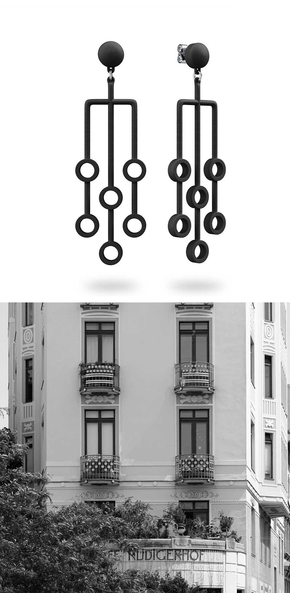 Authentisches Wien-Souvenir: Vom Wiener Jugendstil inspirierte, 3D-gedruckte Schmuckstücke - MY MAGPIE Rabatt-Code!