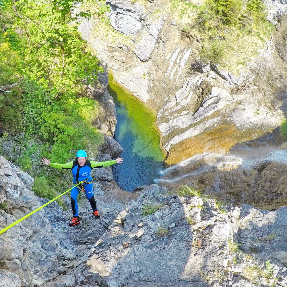 Canyoning: Abseilen