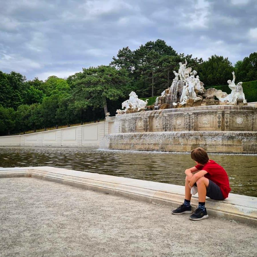 Schloss Schönbrunn: im Garten