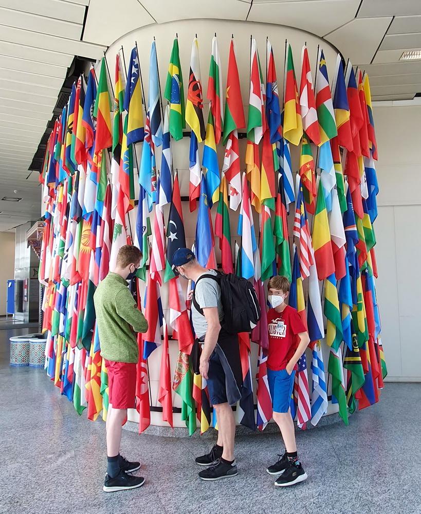 Flaggen in der Uno-City: Vienna International Centre