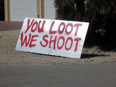 you loot we shoot