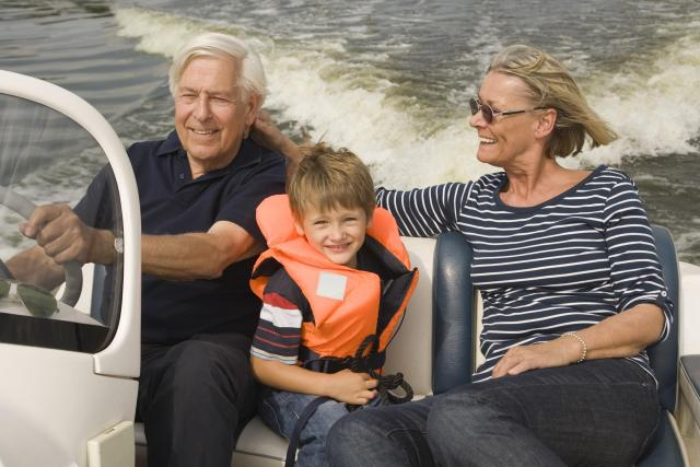 boat ride with godparents