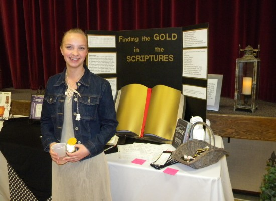 My 2013 YWIE Virtue Project Display: Finding the Gold in the Scriptures