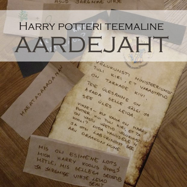 harry potteri teemaline aardejaht