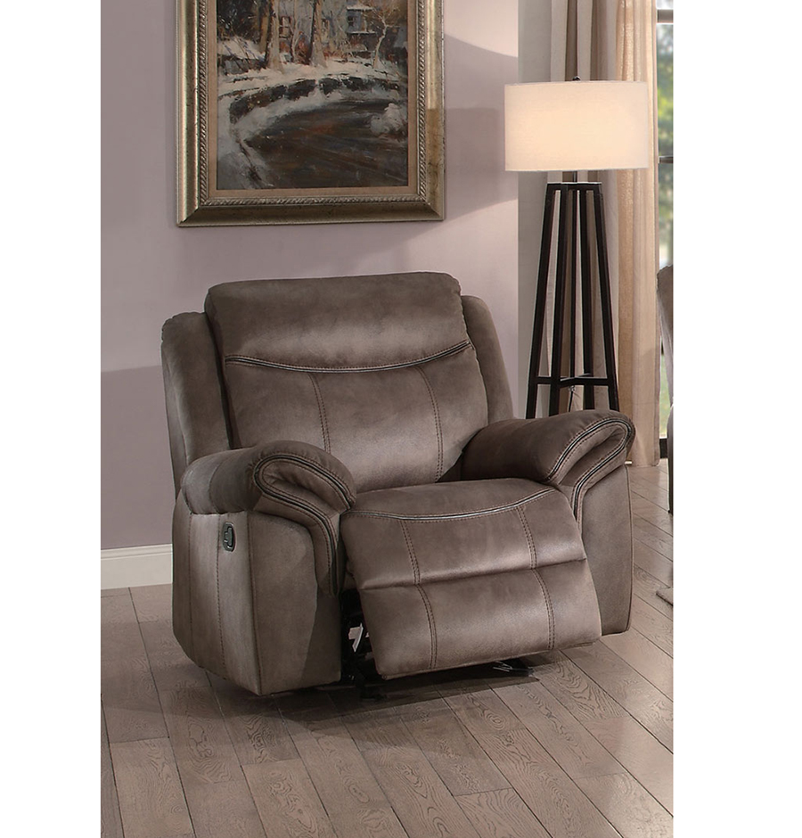 Double Recliner Chair Aram Double Reclining Sofa Set In Brown
