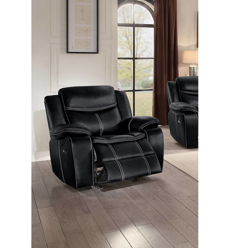 Double Recliner Chair Bastrop Double Reclining Chair In Black
