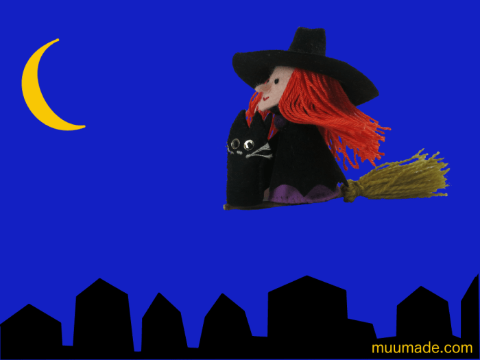 Witch-flying-on-magical-broom-Halloween-night