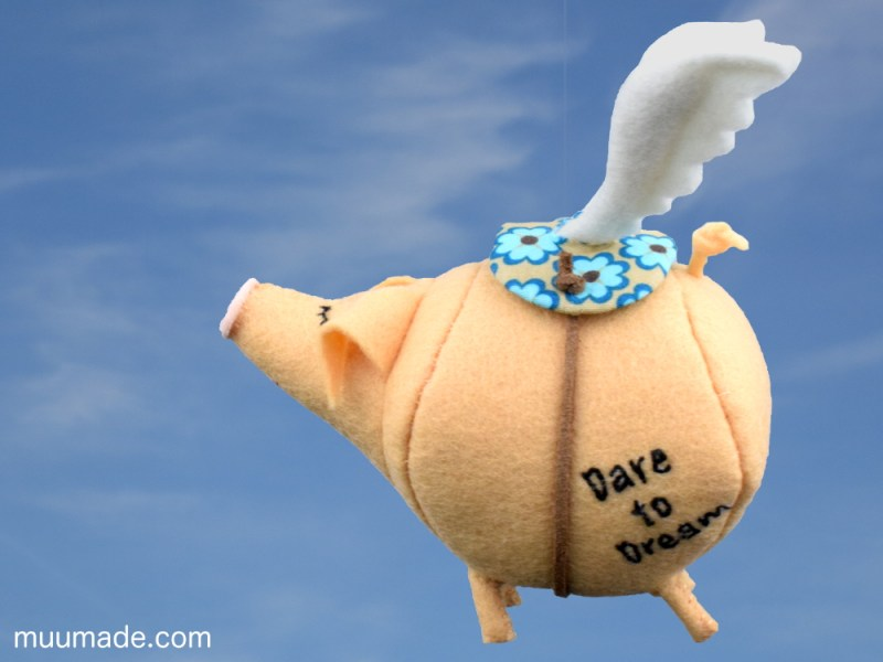 Flying Pig - Dare to Dream - sewing pattern & tutorial Muumade