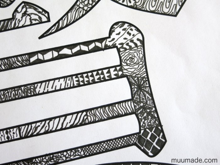Doodling Patterns into Chinese Characters- Muumade.com