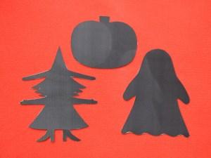 Halloween DIY shadow puppets- witch, ghost, Jack O'Lantern - Muumade.com