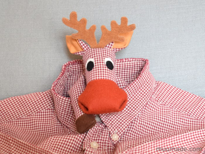 Huggable Moose & Reindeer sewing pattern from Muumade.etsy.com