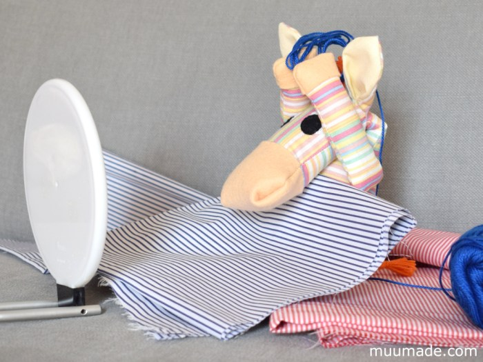 Huggable Horse & Zebra sewing pattern from Muumade.etsy.com