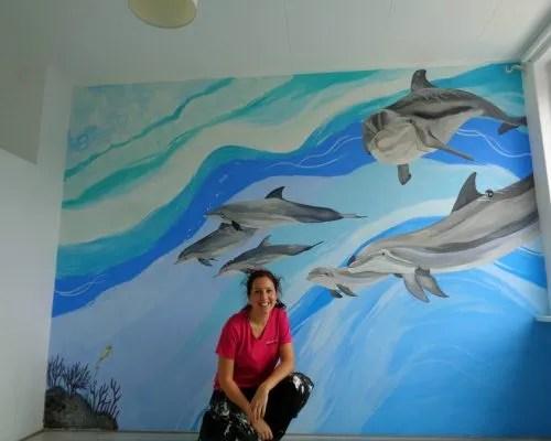 dolfijnen schildering