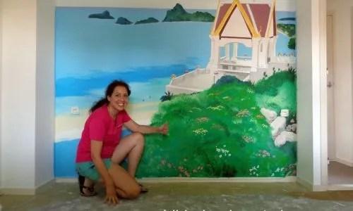landschap muurschildering