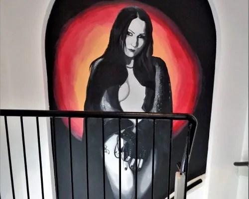 Portret muurschildering