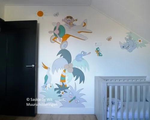 babykamer muurschildering
