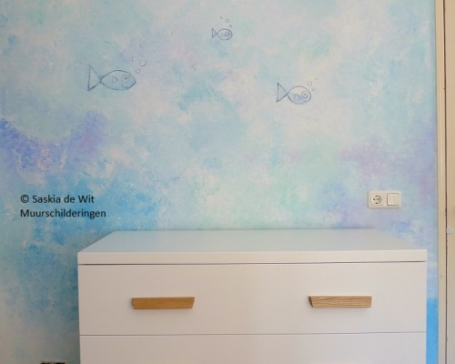 kinderkamer zee thema schildering