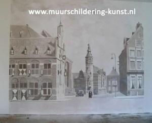 muurschildering stad
