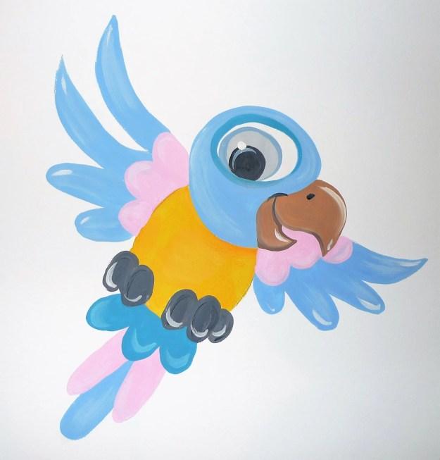 papegaai babykamer