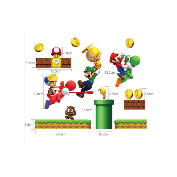 Mario Bros Muurstickers.20 Mario M Decal Pictures And Ideas On Meta Networks