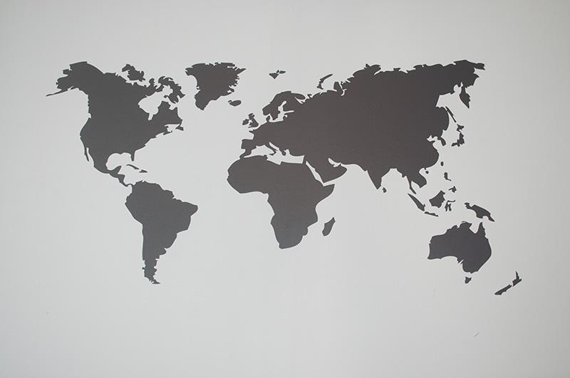 Wereldkaart Muursticker  Muurstickerstunternl