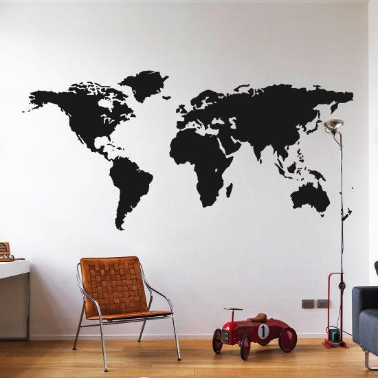 Wereldkaart Muursticker Naar Wens va 1495  Gratis