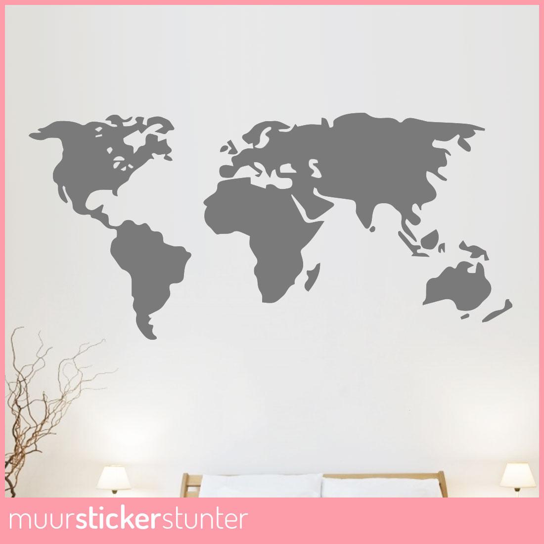 Wereldkaart Muursticker Naar Wens va 1495 Bekijk Sticker