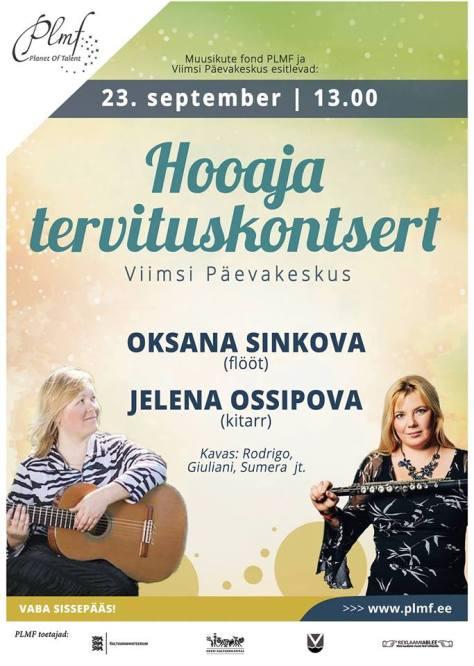Kontsert Viimsi Päevakeskuses (23.09.16)