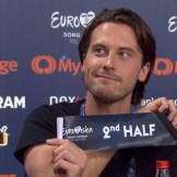 Victor Crone Eurovisiooni pressikonverentsil